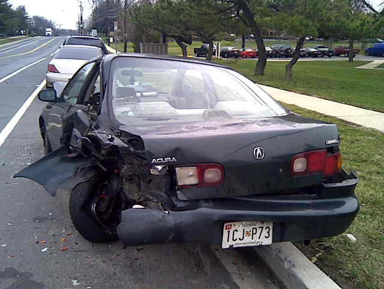acura wrecked