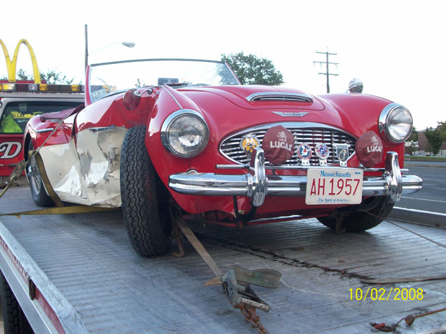 Austin healy Wrecked 1957