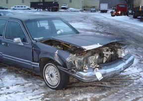 Lincoln Town Car Crash